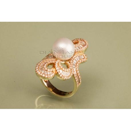 Bague Perle Diamant