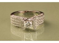Bague mariage solitaire 8