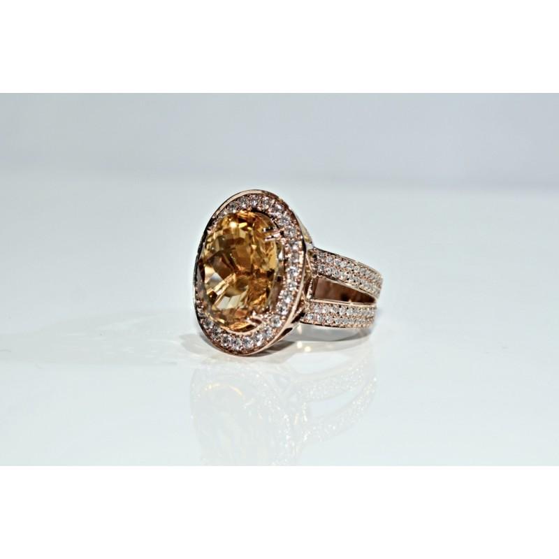 bague cytrine et diamants chez notre bijouterie f s maroc. Black Bedroom Furniture Sets. Home Design Ideas