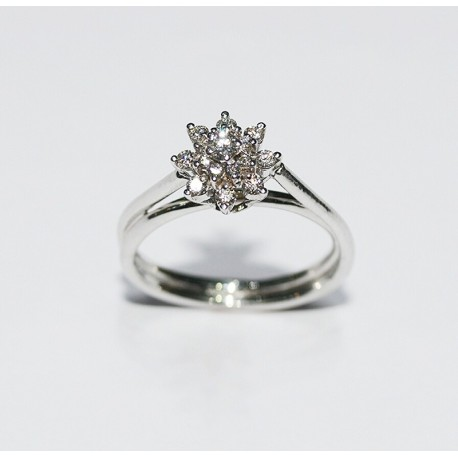 Top Bague Marguerite pour femmes, bijoux de mariage chez Diamant Unique OE77
